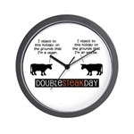 Double Steak Day Clock