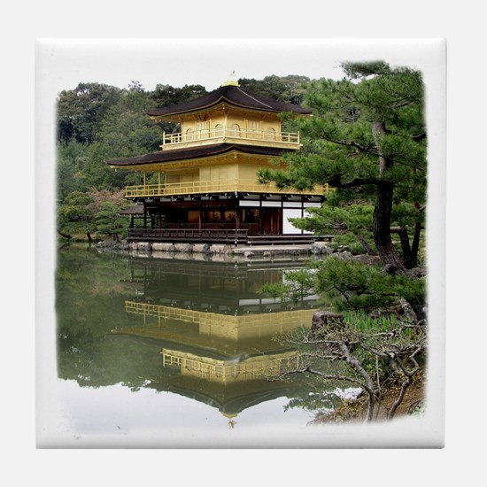 Helaine's Golden Pavilion Tile Coaster