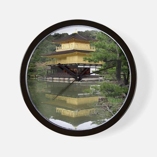 Helaine's Golden Pavilion Wall Clock