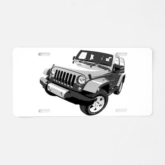 Wrangler Aluminum License Plate