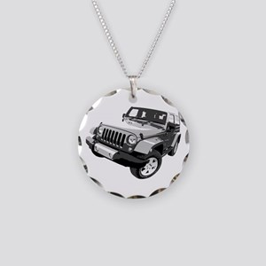Wrangler Necklace Circle Charm