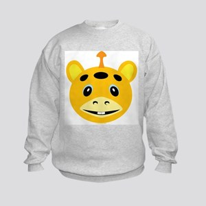 One Horned Yellow Monster Kids Sweatshirt