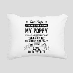 Dear Poppy, Love, Your Favorite Rectangular Canvas