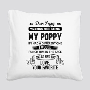 Dear Poppy, Love, Your Favorite Square Canvas Pill