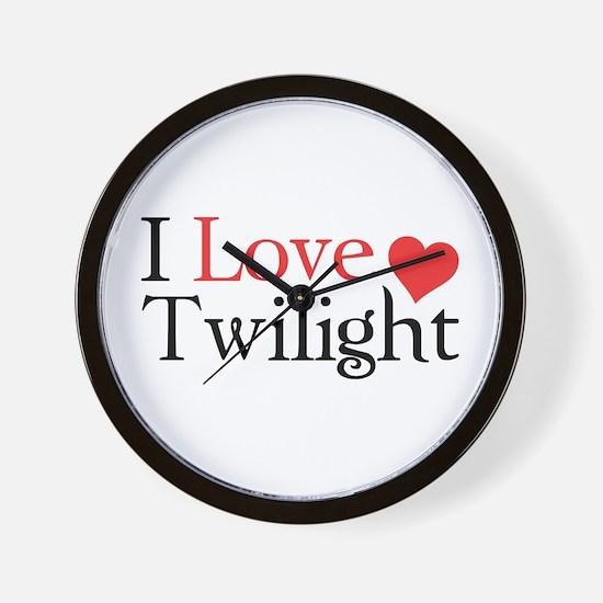I Love Twilight Wall Clock
