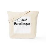 I Speak Parseltongue Tote Bag