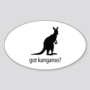Got kangaroo? Sticker (Oval)