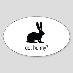 Got bunny? Sticker (Oval)