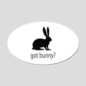 Got bunny? 22x14 Oval Wall Peel