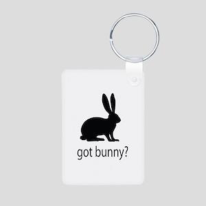 Got bunny? Aluminum Photo Keychain