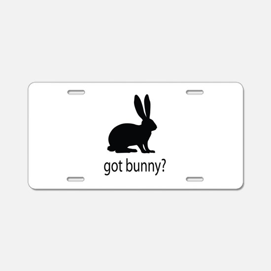 Got bunny? Aluminum License Plate