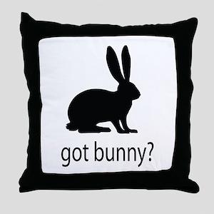 Got bunny? Throw Pillow
