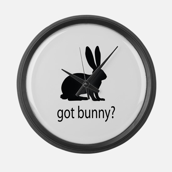 Got bunny? Large Wall Clock