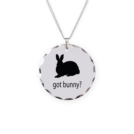 Got bunny? Necklace Circle Charm