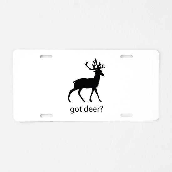 Got deer? Aluminum License Plate