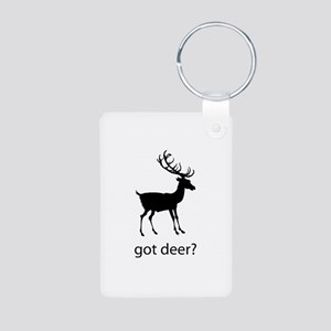 Got deer? Aluminum Photo Keychain