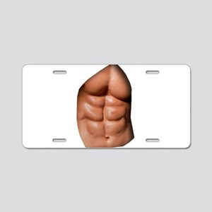 Ripped Abs Aluminum License Plate