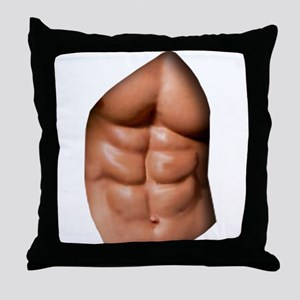 Ripped Abs Throw Pillow