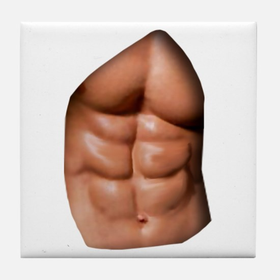 Ripped Abs Tile Coaster