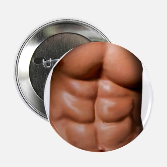 """Ripped Abs 2.25"""" Button"""