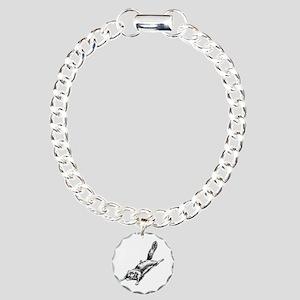 Flying Squirrel Illustration Charm Bracelet, One C