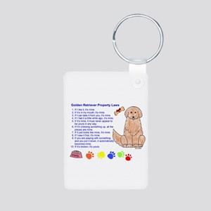 Golden Retriever Property Laws Photo Keychain