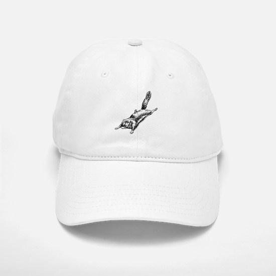 Flying Squirrel Illustration Baseball Baseball Cap