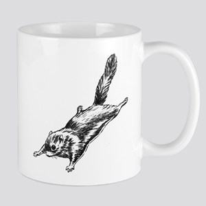 Flying Squirrel Illustration Mug