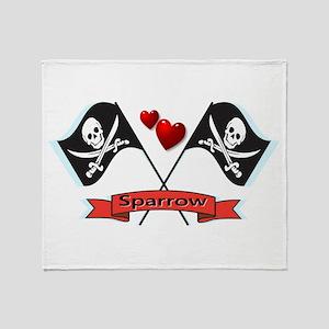 I heart Sparrow Throw Blanket