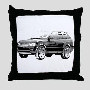 Range Rover Throw Pillow
