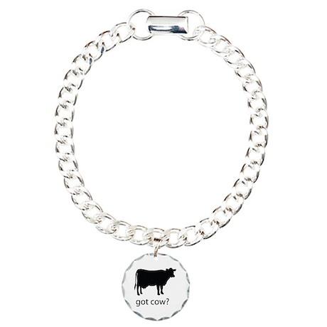 Got cow? Charm Bracelet, One Charm