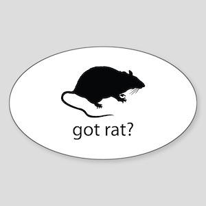 Got rat? Sticker (Oval)
