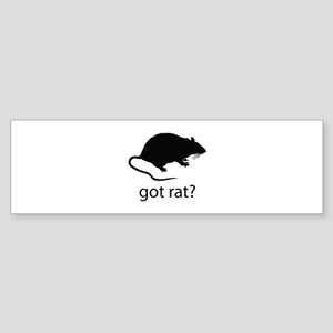 Got rat? Sticker (Bumper)