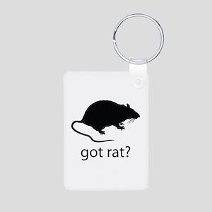 Got rat? Aluminum Photo Keychain