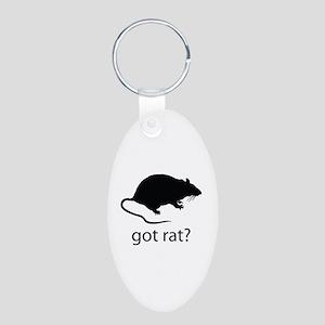 Got rat? Aluminum Oval Keychain