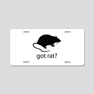 Got rat? Aluminum License Plate