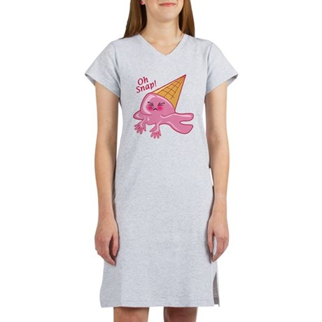 Oh Snap Funny Ice Cream Women's Nightshirt