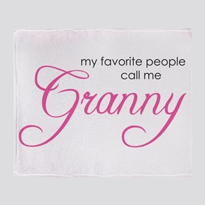 Favorite People Call me Grann Throw Blanket