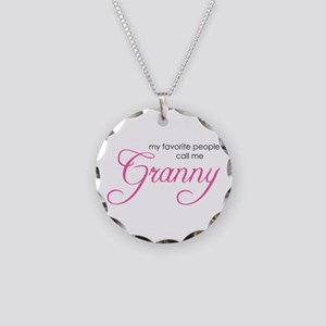 Favorite People Call me Grann Necklace Circle Char