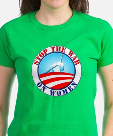 Stop The War On Women, Dark W Women's Dark T-Shirt