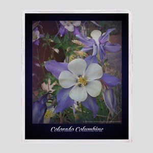 Colorado Columbines - Throw Blanket