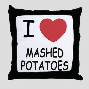 I heart mashed potatoes Throw Pillow