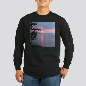 Sunset Lake Superior Long Sleeve Dark T-Shirt