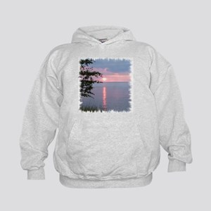 Sunset Lake Superior Kids Hoodie