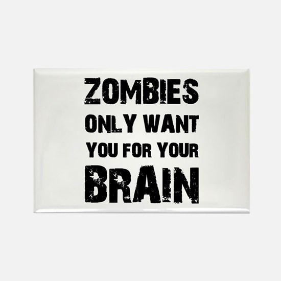 Zombies Rectangle Magnet