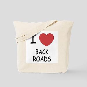 I heart back roads Tote Bag