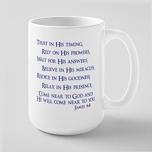 James 4:8 Large Mug