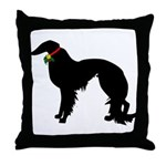 Christmas or Holiday Irish Setter Silhouette Throw