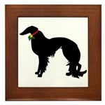 Christmas or Holiday Irish Setter Silhouette Frame