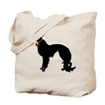 Christmas or Holiday Irish Setter Silhouette Tote